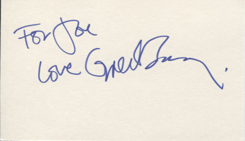 Image 1 for Greta Scacchi - Autograph Note Signed - HFSID 346630
