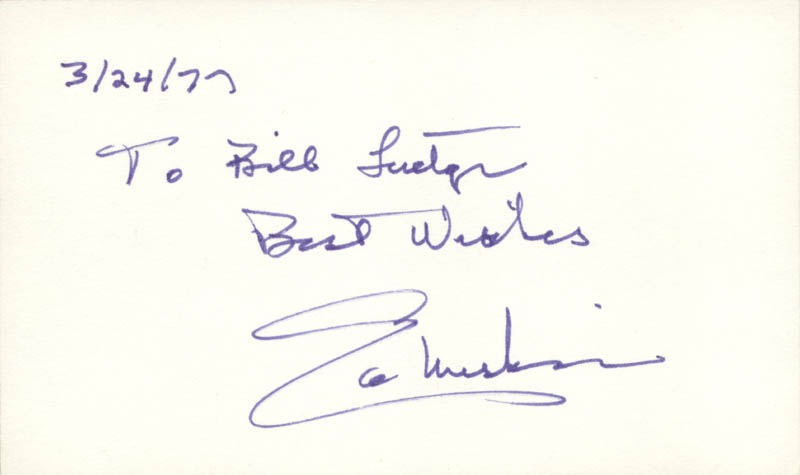 Image 1 for Edmund S. Muskie - Autograph Note Signed 03/24/1977 - HFSID 34666