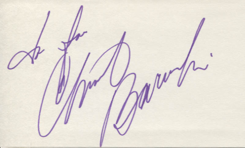 Image 1 for Christine Baranski - Inscribed Signature - HFSID 346691