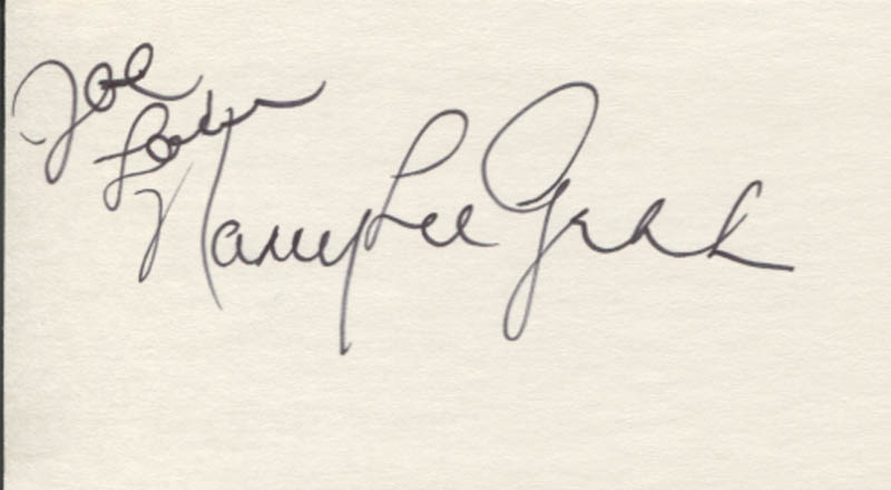 Image 1 for Nancy Lee Grahn - Autograph Note Signed - HFSID 346790