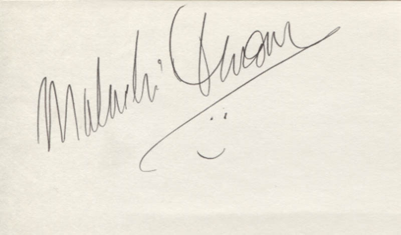 Image 1 for Malachi Throne - Autograph - HFSID 346984
