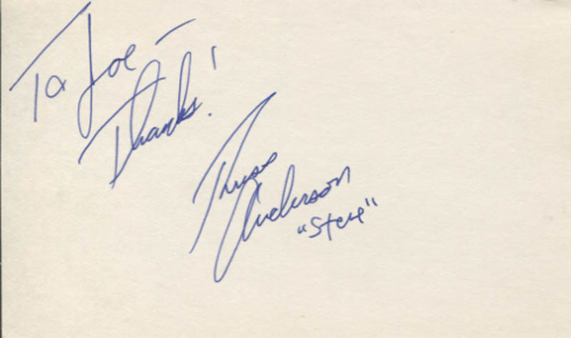 Image 1 for Russ Anderson - Autograph Note Signed - HFSID 346993