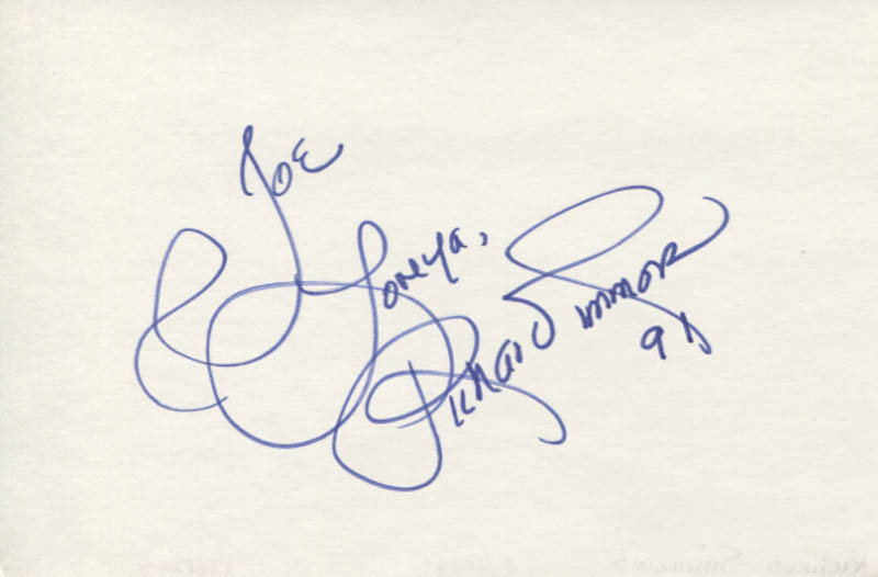 Image 1 for Richard Simmons - Autograph Note Signed 1991 - HFSID 347070