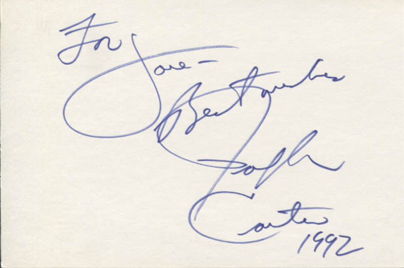 Image 1 for Ralph Carter - Autograph Note Signed 1992 - HFSID 347074