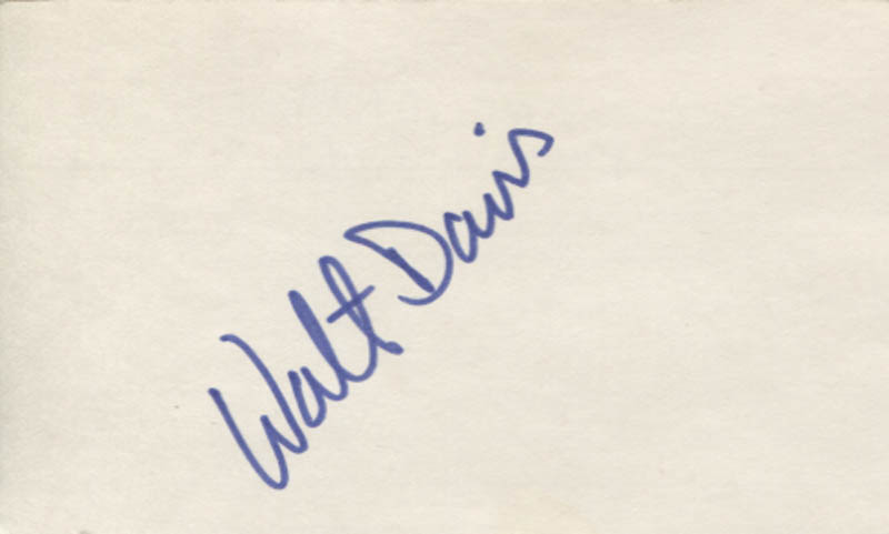 Image 1 for Walter Davis - Autograph - HFSID 347344
