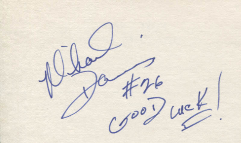 Image 1 for Mike Davis - Autograph Sentiment Signed - HFSID 347360