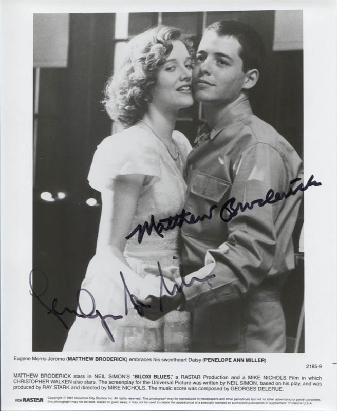 Biloxi Blues Movie Cast Printed Photograph Signed In Ink Co