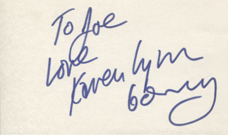 Image 1 for Karen Lynn Gorney - Autograph Note Signed - HFSID 347432