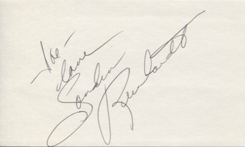 Image 1 for Sandra Dee Robinson - Autograph Note Signed - HFSID 347483