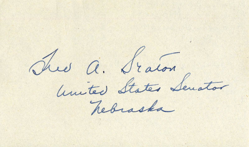 Image 1 for Frederick A. Seaton - Autograph - HFSID 34757