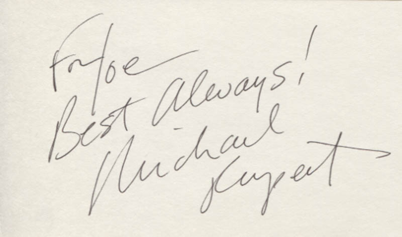 Image 1 for Michael Rupert - Autograph Note Signed - HFSID 347667