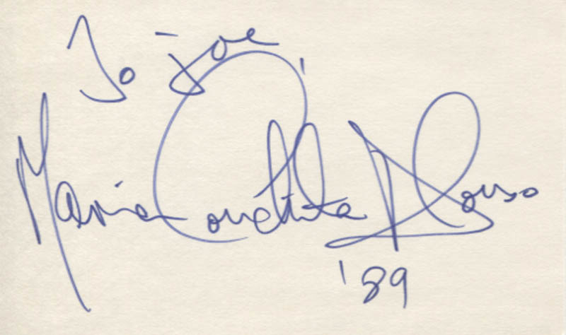 Image 1 for Maria Conchita Alonso - Inscribed Signature 1989 - HFSID 347704