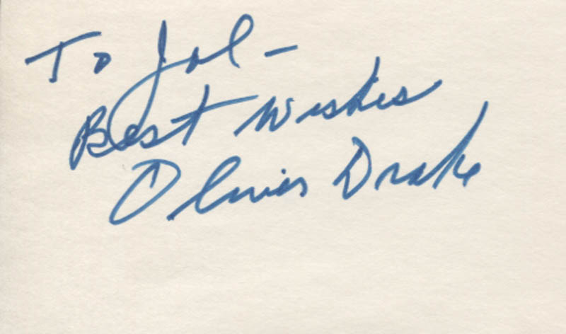 Image 1 for Oliver Drake - Autograph Note Signed - HFSID 347722