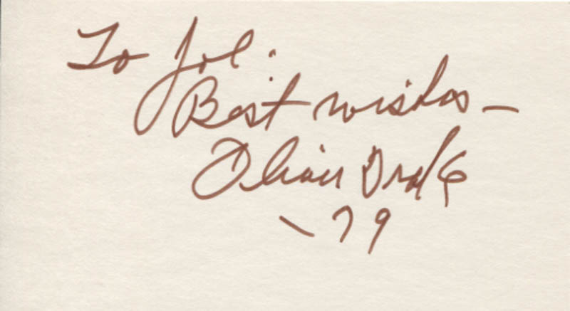 Image 1 for Oliver Drake - Autograph Note Signed 1979 - HFSID 347723