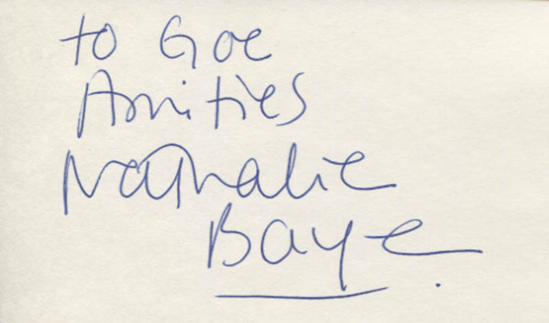 Image 1 for Nathalie Baye - Autograph Note Signed - HFSID 347729