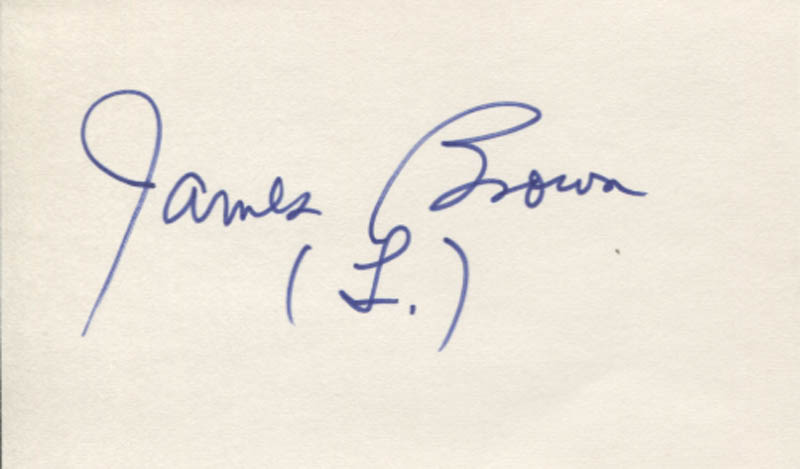 Image 1 for James L. 'Rip' Brown - Autograph - HFSID 347734