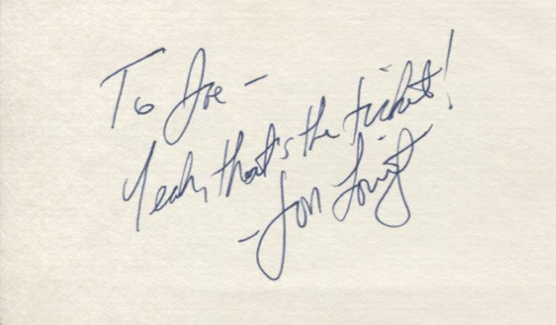 Image 1 for Jon Lovitz - Autograph Note Signed - HFSID 347765