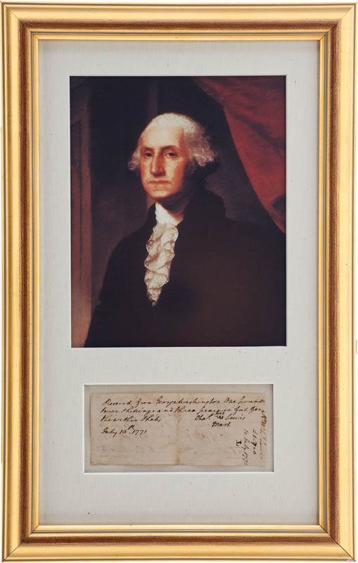 Image 1 for President George Washington - Receipt Signed 07/10/1771 - HFSID 347979