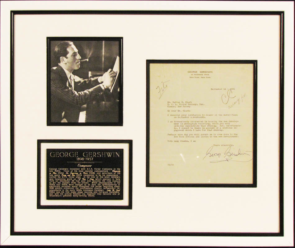 Image 1 for George Gershwin - Typed Letter Signed 09/14/1931 - HFSID 347996