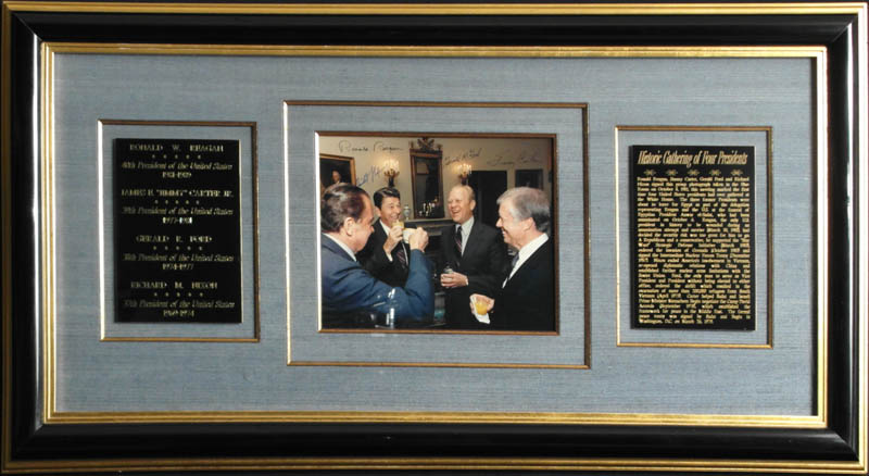 Image 1 for The Four Presidents - Autographed Signed Photograph with co-signers - HFSID 348005