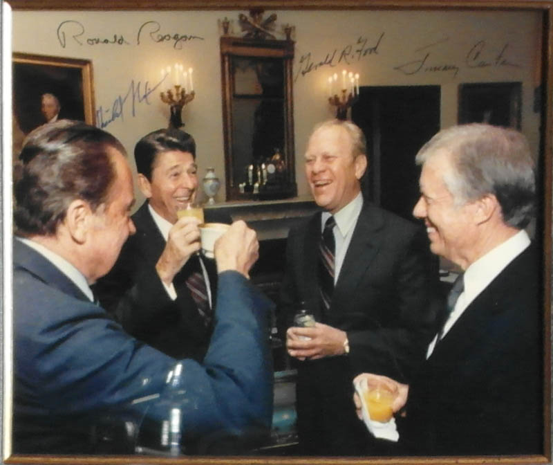 Image 3 for The Four Presidents - Autographed Signed Photograph with co-signers - HFSID 348005