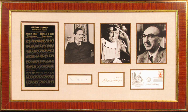 Image 1 for Dr. Michael E. Debakey - Collection with Dr. Denton A. Cooley, Christiaan Barnard - HFSID 348007