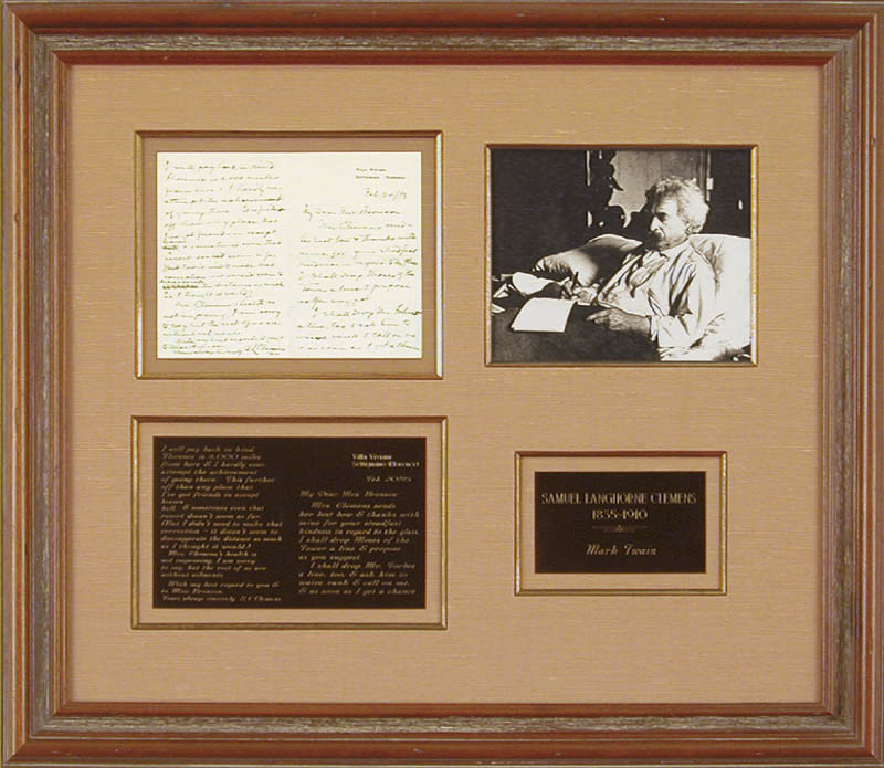 Image 1 for Samuel L. 'Mark Twain' Clemens - Autograph Letter Signed 02/20/1895 - HFSID 348018