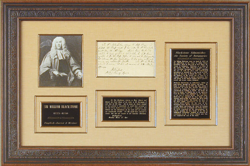 Image 1 for Sir William Blackstone - Third Person Autograph Letter 4/17 - HFSID 348040