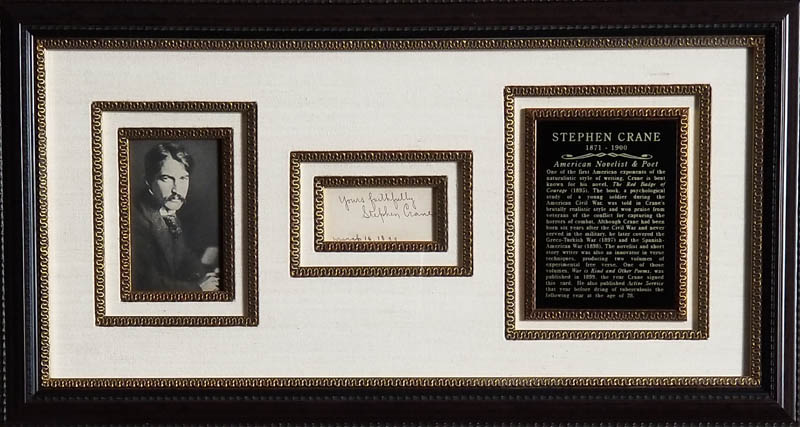 Image 1 for Stephen Crane - Calling Card Signed 03/16/1899 - HFSID 348082