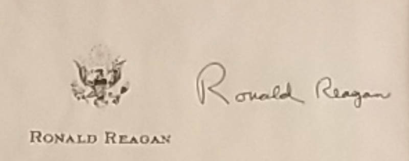 Image 3 for President Ronald Reagan - Typescript Signed - HFSID 348089