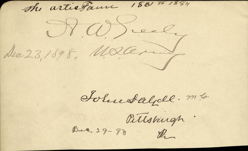 Image 1 for Major General Adolphus W. Greely - Autograph 12/23/1898 co-signed by: Charles J. 'Junior' Faulkner, James H. Berry, John Dalzell - HFSID 34960