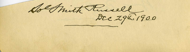 Image 3 for Sol Smith Russell - Autograph 12/29/1900 co-signed by: William A. Peffer - HFSID 34968