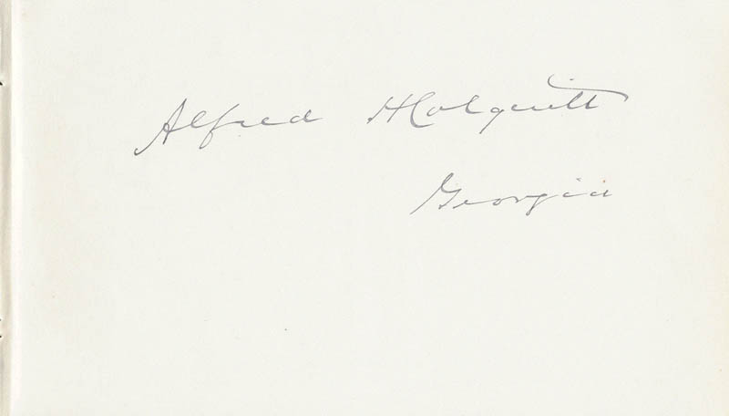 Image 1 for Alfred H. Colquitt - Autograph - HFSID 35082