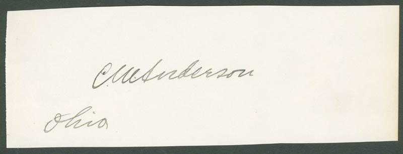 Image 1 for Charles Marley Anderson - Autograph - HFSID 35097
