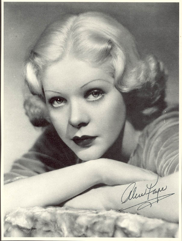 Image 1 for Alice Faye - Magazine Photograph Signed - HFSID 35208