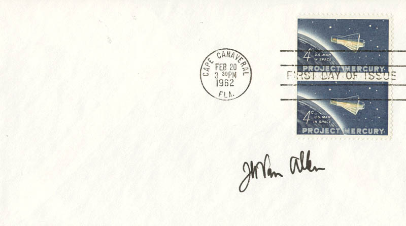 Image 1 for James A. Van Allen - First Day Cover Signed - HFSID 35291