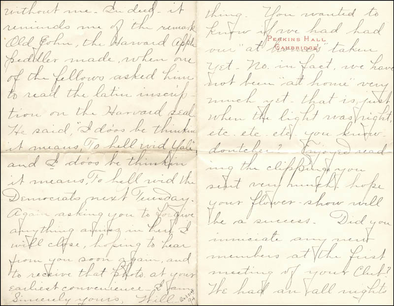 Image 1 for William Hiram Radcliffe - Autograph Letter Signed 10/31/1894 - HFSID 35370