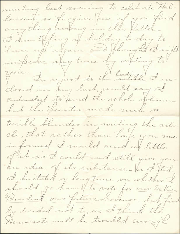 Image 5 for William Hiram Radcliffe - Autograph Letter Signed 10/31/1894 - HFSID 35370