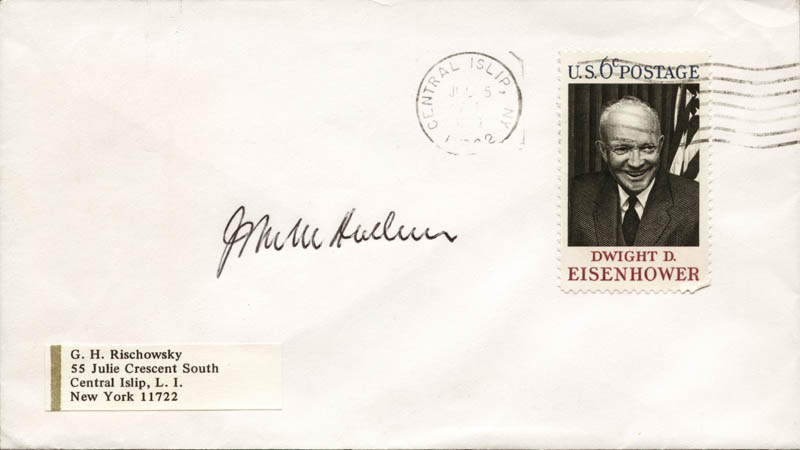 Image 1 for Associate Justice John M. Harlan Jr. - Envelope Signed - HFSID 35447