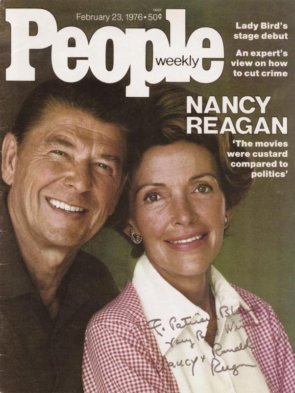 Image 1 for President Ronald Reagan - Inscribed Magazine Cover Signed co-signed by: First Lady Nancy Davis Reagan - HFSID 35555