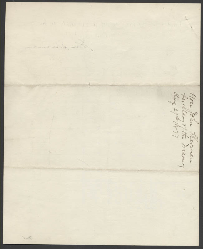 Image 4 for John Sherman - Manuscript Letter Signed 08/27/1877 - HFSID 35580