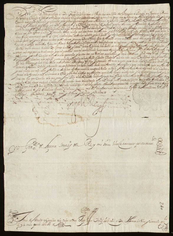 Image 1 for King Philip IV (Spain) - Document Signed 11/06/1641 with co-signers - HFSID 35670