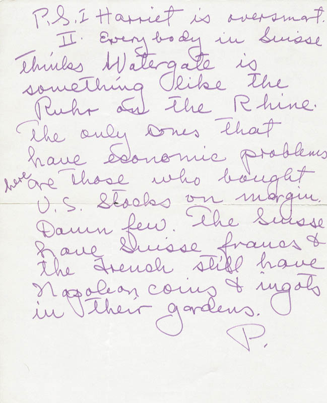 Image 3 for Paulette Goddard - Autograph Letter Double Signed 05/30/1973 - HFSID 36188