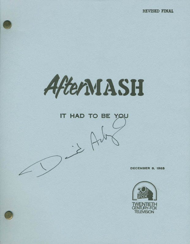 Image 1 for David Ackroyd - Script Signed - HFSID 36276