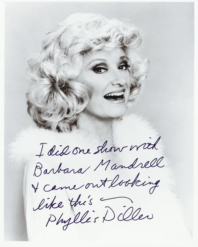 Image 1 for Phyllis Diller - Autographed Signed Photograph - HFSID 36468