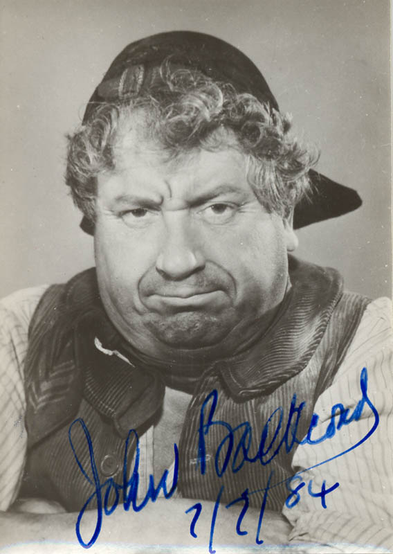 Image 1 for John Baskcomb - Autographed Signed Photograph 07/07/1984 - HFSID 36516