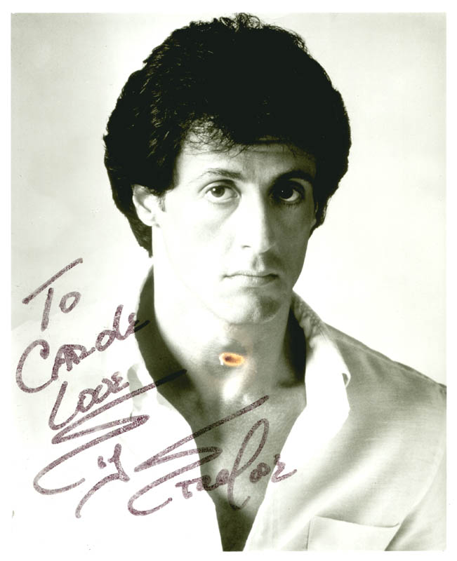 Image 1 for Sylvester Stallone - Autographed Inscribed Photograph - HFSID 36575