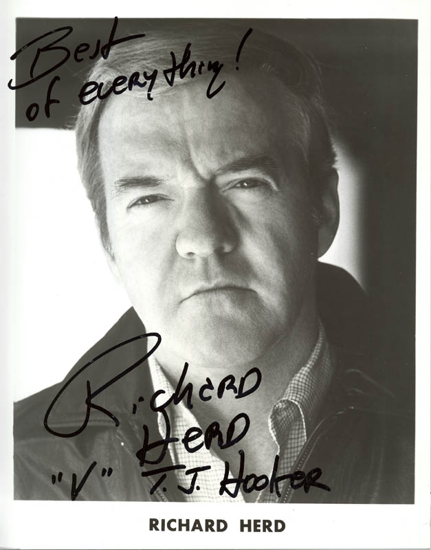 Image 1 for Richard Herd - Printed Photograph Signed In Ink - HFSID 36682