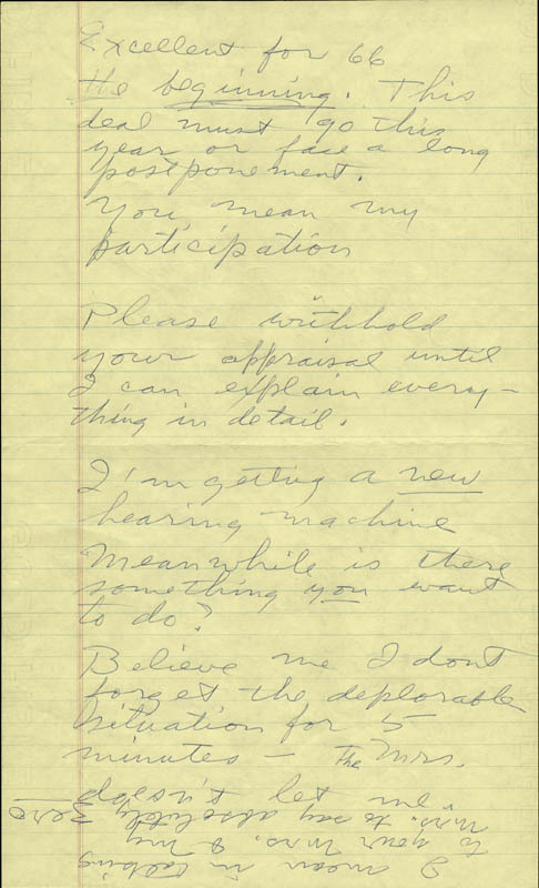 Image 3 for Howard Hughes - Autograph Letter Signed co-signed by: Jean Peters - HFSID 36722