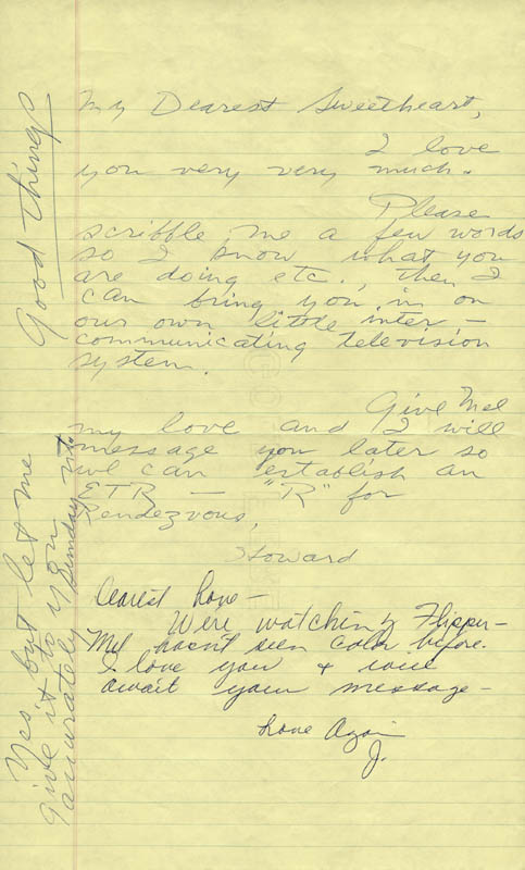 Image 1 for Howard Hughes - Autograph Letter Signed co-signed by: Jean Peters - HFSID 36745